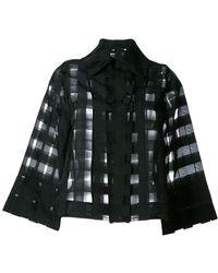 Ultrachic - Sheer Checked Shirt - Lyst