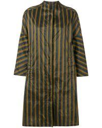 Aspesi - Oversized Striped Raincoat - Lyst