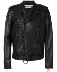 Off-White c/o Virgil Abloh - Arrow Biker Jacket - Lyst