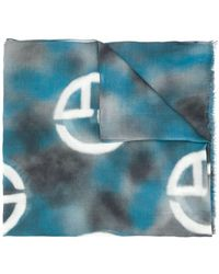 Giorgio Armani - Écharpe à logo monogrammé - Lyst