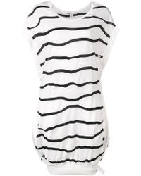 Y-3 - Striped Sweatshirt Dress - Lyst