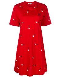 McQ - Swallow Twins T-shirt Dress - Lyst