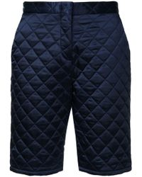 MSGM - Quilted Satin Shorts - Lyst