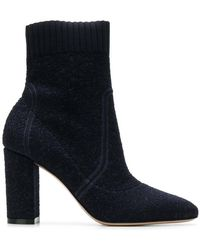 Gianvito Rossi - Round Toe High Ankle Boots - Lyst