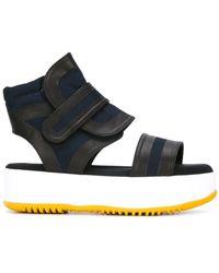 8216d6ffc52 Marni - Canvas Platform Sandals - Lyst