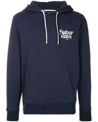 Saturdays NYC - Sudadera con capucha y logo - Lyst