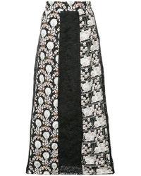 Giamba - Jacquard Maxi Skirt - Lyst