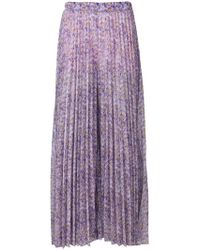 Blumarine - Floral Pleated Maxi Skirt - Lyst
