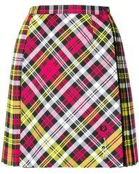 Le Kilt - Pleated Tartan Mini Skirt - Lyst
