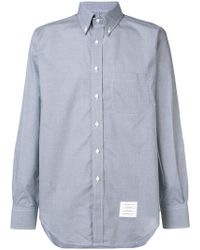 Thom Browne - Micro Check Buttondown Shirt - Lyst