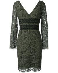 Diane von Furstenberg | Deep V-neck Lace Dress | Lyst