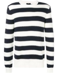 Theory - Striped Crewneck Sweater - Lyst