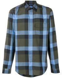 Theory - Melange Plaid Clean Shirt - Lyst