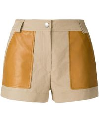 Yves Salomon - Contrast Pocket Shorts - Lyst