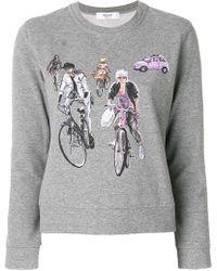 Blugirl Blumarine - Bike Print Sweatshirt - Lyst