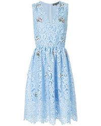 Markus Lupfer - Floral Embroidered Lace Dress - Lyst