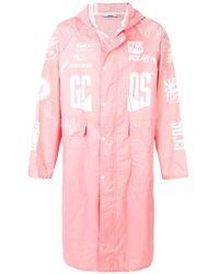 Gcds - Printed Hood Coat - Lyst