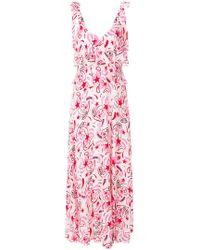 Dondup - Printed Tiered Sleeveless Maxi Dress - Lyst
