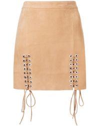 Manokhi - Lace-up Detail Skirt - Lyst