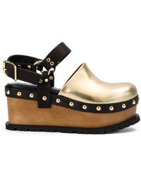 Sacai - Buckled Platform Clog Sandals - Lyst