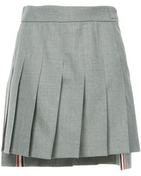Thom Browne - Dropped Back Mini Pleated Skirt In School Uniform Plain Weave - Lyst