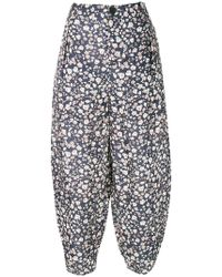 Aleksandr Manamïs - Floral Print Balloon Cropped Trousers - Lyst