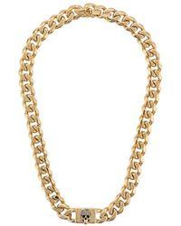 Alexander McQueen Chain Skull Necklace - メタリック