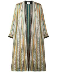 Forte Forte - Striped Open Front Coat - Lyst