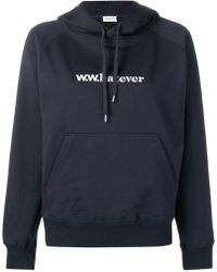 WOOD WOOD - Embroidered Hoodie - Lyst