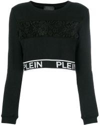 Philipp Plein - Lace Panel Crop Top - Lyst
