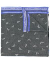 Armani Jeans - Logo Printed Scarf - Lyst