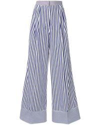 Rossella Jardini - Striped Wide Leg Trousers - Lyst