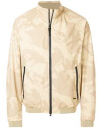 Woolrich - Camouflage Zipped Jacket - Lyst