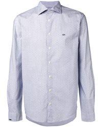 Sun 68 - Dotted Logo Shirt - Lyst