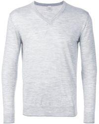 Eleventy - V Neck Sweatshirt - Lyst