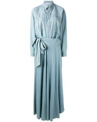 Faith Connexion - Lightweight Denim Skirt Suit - Lyst