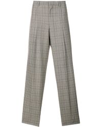 E. Tautz - Checked Pleated Trousers - Lyst
