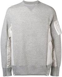 Sacai - Round Neck Sweatshirt - Lyst