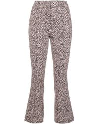 Dorothee Schumacher - Printed Slim Cropped Trousers - Lyst