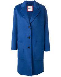 KENZO - Single Breasted Overcoat - Lyst