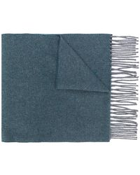 Corneliani - Fringed Knitted Scarf - Lyst