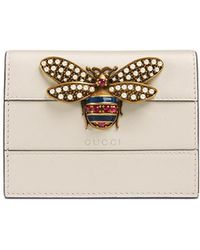 Gucci - Queen Margaret Leather Card Case - Lyst