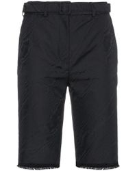 Off-White c/o Virgil Abloh - High Waisted Long Moiré Tailored Shorts - Lyst