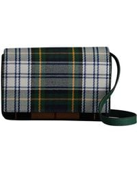 Burberry - Tartan And Leather Wallet With Detachable Strap - Lyst