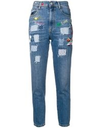 History Repeats - Patchwork Skinny Jeans - Lyst