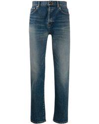 Saint Laurent - Slim Faded Jeans - Lyst