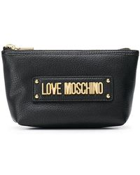 Love Moschino - Black Logo Purse - Lyst