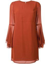 Twin Set - Lace Trim Sleeves Dress - Lyst
