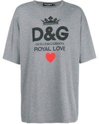 Dolce & Gabbana - Royal Love Print T-shirt - Lyst