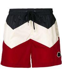 Moncler - Colour Block Swim Shorts - Lyst